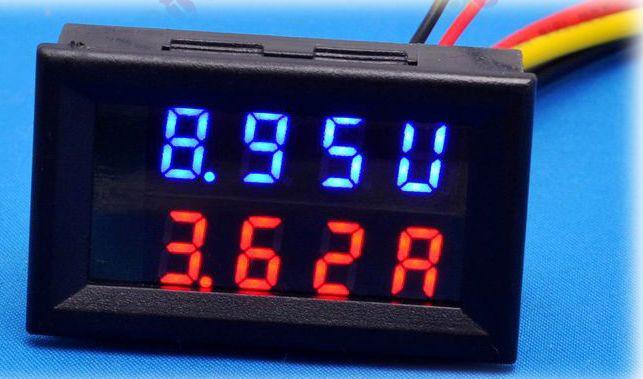 Вольтметр с Амперметром 0.01-100V / 0.01-50A с Шунтом