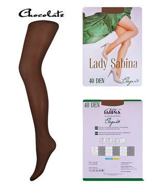Колготки Lady Sabina 40 den Elegant Chocolate р.3 (LS40El) | 5 шт., фото 2