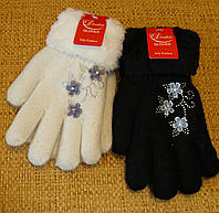 Перчатки теплые для девочек. Ангора. 7-12 лет.