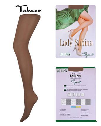Колготки Lady Sabina 40 den Elegant Tabaco р.5 (LS40El) | 5 шт., фото 2