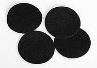 КР35-1/100 Фетр круг 100шт Ф3,5см черный
