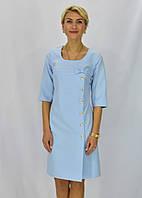 Нежное женское платье с бантиком из ткани