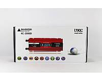 Преобразователь напряжения в автомобиль UKC KC-2000D, 2 кВт, экран, принудительная вентиляция, USB