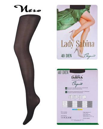 Колготки Lady Sabina 40 den Elegant Nero р.6 (LS40El6)   5 шт., фото 2
