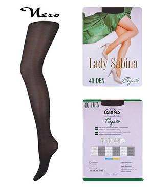 Колготки Lady Sabina 40 den Elegant Nero р.6 (LS40El6) | 5 шт., фото 2