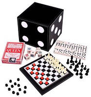 Набор настольных игр 5 в 1: карты, домино, шахматы, шашки, кости Duke DBT12002