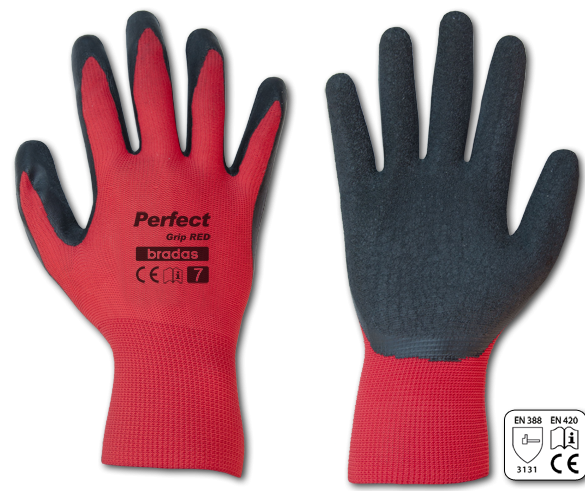 Перчатки рабочие Perfect Grip red, латекс,размер 8(M)