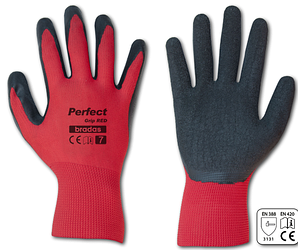 Перчатки рабочие Perfect Grip red, латекс,размер 7(S)