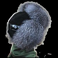 Женская шапка из меха блюфрост