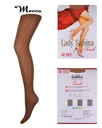 Колготки Lady Sabina 40 den Classic Mocca р.2 (LS40Cl) | 5 шт., фото 2