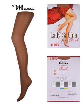 Колготки Lady Sabina 40 den Classic Mocca р.4 (LS40Cl) | 5 шт., фото 2