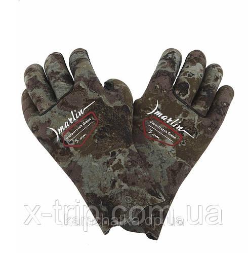 Перчатки для подводной охоты Marlin Ultrastretch Green 5 мм