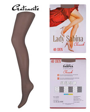 Колготки Lady Sabina 40 den Classic Antracite р.4 (LS40Cl) | 5 шт., фото 2