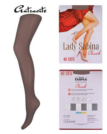 Колготки Lady Sabina 40 den Classic Antracite р.5 (LS40Cl) | 5 шт., фото 2