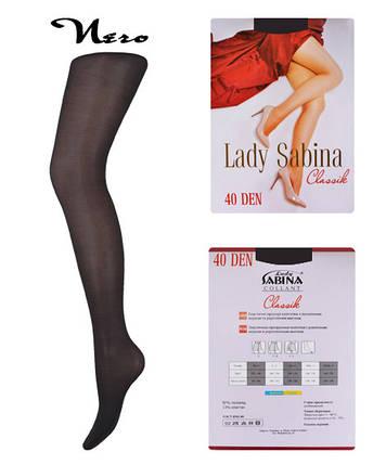 Колготки Lady Sabina 40 den Classic Nero р.5 (Арт. LS40Cl), фото 2