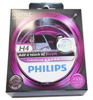 Автолама Philips H4 VisionPlus +60% фіолетовий світло 12V 60/55W12342 CVPP S2