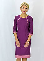 Женское платье с контрастными вставками