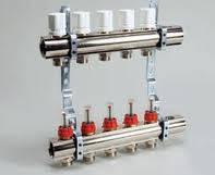 Коллектор теплого пола LUXOR (Италия) 3 выходов с расходомерами и термоклапанами