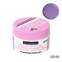 Моделирующий прозрачный гель Crystal Violet Beauty Choice GD-02 ,14 г