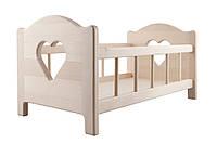 Деревянная кроватка для куклы до 50 см