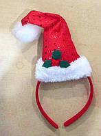 Шляпка Санта Клауса на обруче