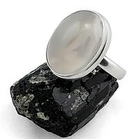 Халцедон, серебро 925, кольцо, 150КХ
