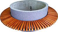 Лавка садово-парковая круглая с бетонным основанием №1
