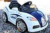 Детский электромобиль  Bugatti Smile: 12V, 7 км/ч, 90W, аморт-Белый-(6448622080)- купить оптом