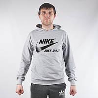 Чоловіча  спортивна кофта  в стилі Nike (сіра)