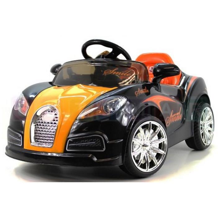 Детский электромобиль Bugatti Smile: 12V, 7 км/ч, 90W, аморт-Черный-(6448622080)- купить оптом