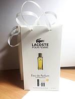 Lacoste Pour Femme мини парфюмерия в подарочной упаковке 3х15ml DIZ