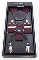 Подтяжки коричневые Paolo Udini в подарочной упаковке, фото 1