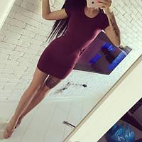 """Женское платье """"Mini""""  бордо"""