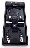Подтяжки черные с узором Paolo Udini подарочные, фото 1