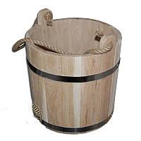 Ведро для бани 10 л дубовое широкий верх М