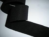 Резинка шерстяная, репсовая,мягкая, 34 мм ширина. Цвет черный