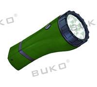 LED Фонарь BUKO WT295 7LED зеленый 4V 900mAh (8 часов)