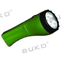 LED Фонарь BUKO WT294 7LED зеленый 4V 900mAh (8 часов)