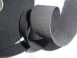 Резинка шерстяная, репсовая,мягкая, 34 мм ширина. Цвет черный, фото 2