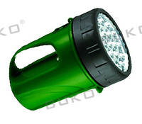 LED Фонарь BUKO WT297 19LED зеленый 6V 4,5Ah (12 часов)