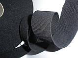 Резинка шерстяная, репсовая,мягкая, 34 мм ширина. Цвет черный, фото 4