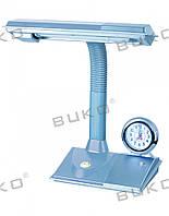 Светильник настольный BUKO WT027-11W G23 серебро (+ЧАСЫ)