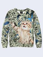 """Світшот чоловічий """"Мой денежный котик"""""""