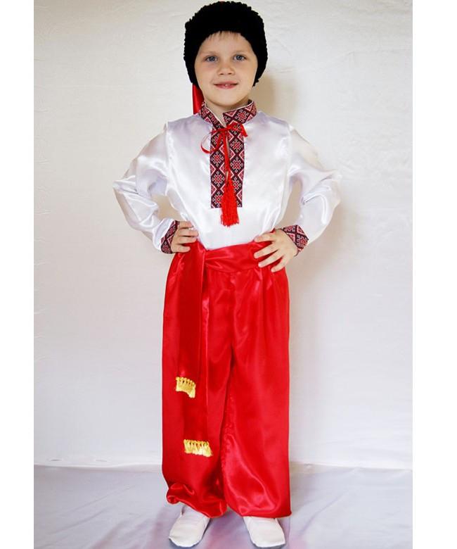 """Карнавальный костюм """"Украинец №1"""", из атласа, рост 95-120"""