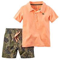 Набор: футболка-поло, шорты Carters (24М)