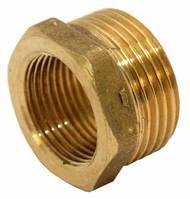 Переход латунь диаметр 20 внутренняя х 25 внешняя резьба