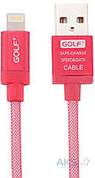 USB кабель GOLF Lonsmax Lightning Silk Braided Metal для iPhone5/6 1M Red