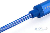 USB кабель GOLF Lonsmax Lightning Silk Braided Metal для iPhone5/6 1M Blue
