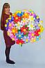 Большой букет ромашек из воздушных шаров