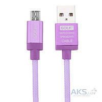 Кабель USB GOLF Lonsmax Silk Braided Metal Micro USB Violet